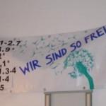 """Transparent """"Wir sind so frei"""""""
