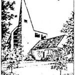 Kirche Amern sw Bild