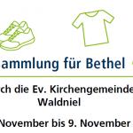 5.-9.11.: Kleidersammlung für Bethel