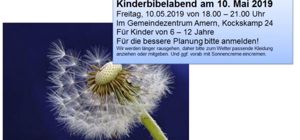10.05.: Kinderbibelabend