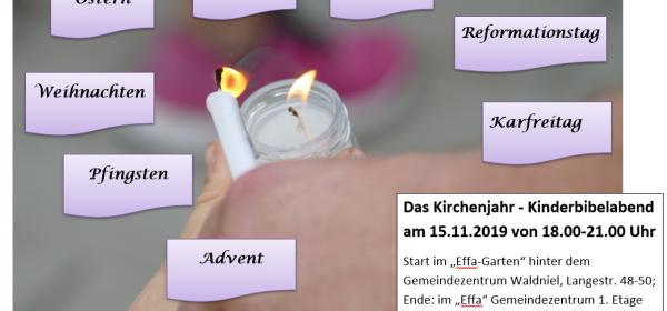 """15.11.: Kinderbibelabend """"Das Kirchenjahr"""""""